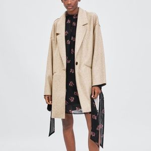 Zara oversized beige coat